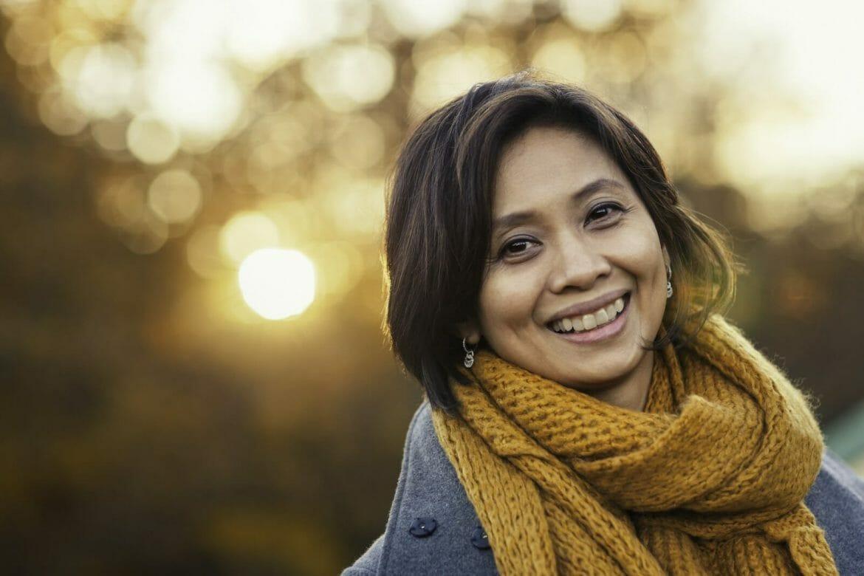 Autumn portrait of a woman