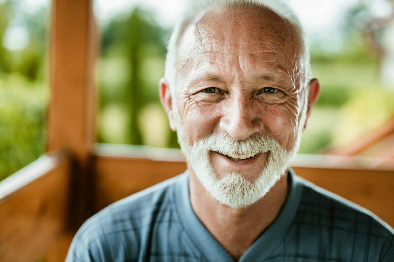 Portrait of happy senior man.