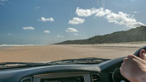 Driving on the Beach, Fraser Island, Australia