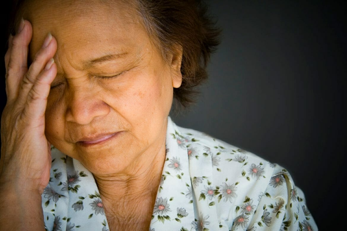 Elderly Asian woman, shallow depth of field.  Image exclusive to iStockphoto.